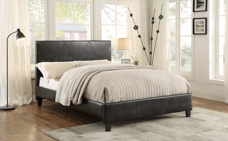 *Black* Bed Frame with Mattress Combo