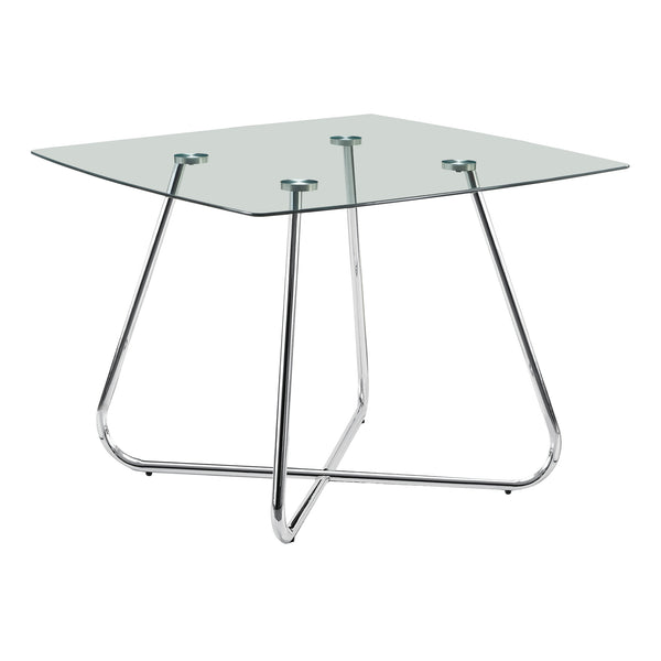 "DINING TABLE - 40""""DIA CHROME WITH 8MM TEMPERED GLASS"