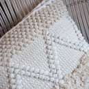 Bohemian Macrame Cushion – Cream