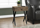BROWN RECLAIMED WOOD ACCENT TABLE