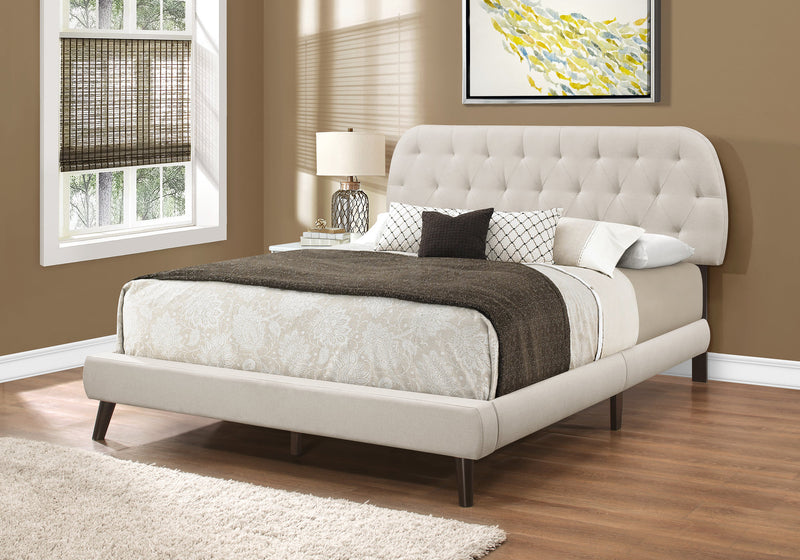 Queen Size Linen With Chrome Legs