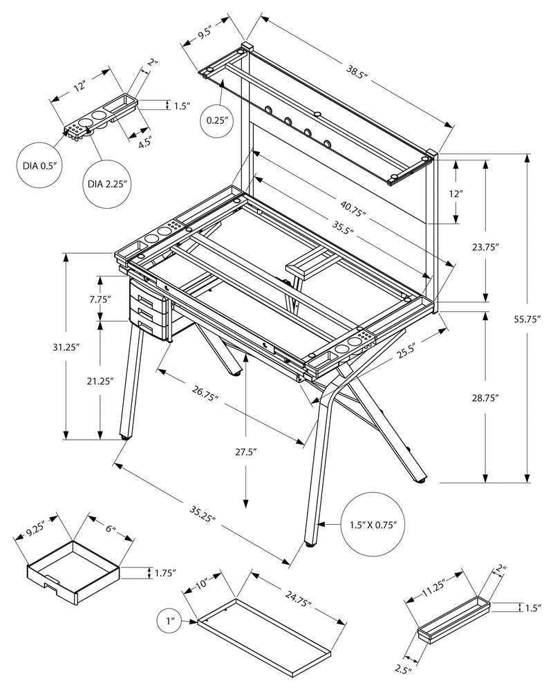 DRAFTING TABLE - ADJUSTABLE