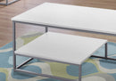 TABLE SET - 3PCS SET / WHITE / SILVER METAL