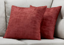 RED BRUSHED VELVET / 2PCS