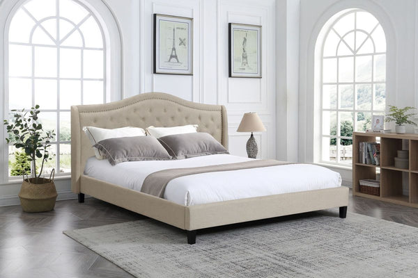 *Twilight* Bed Frame with Be Lazy #6'' Mattress Queen size Combo