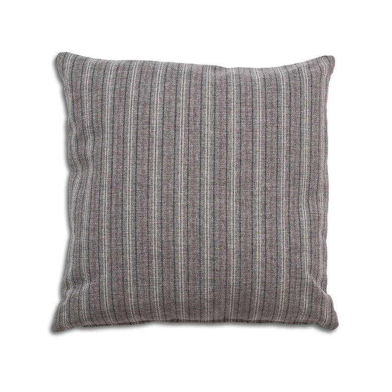Breathe 22″ Square Feather Cushion – Grey Stripe