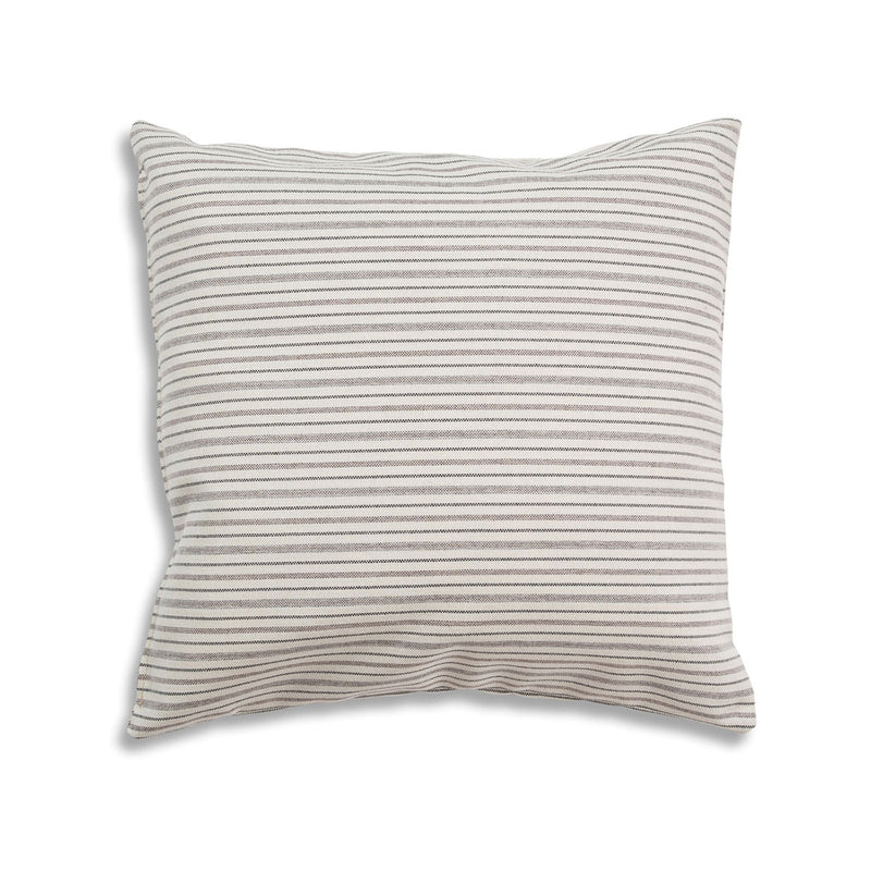 Breathe 22″ Square Feather Cushion – Cream Stripe