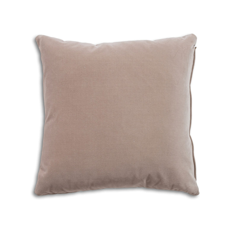 Breathe 18″ Square Feather Cushion – Oyster Velvet