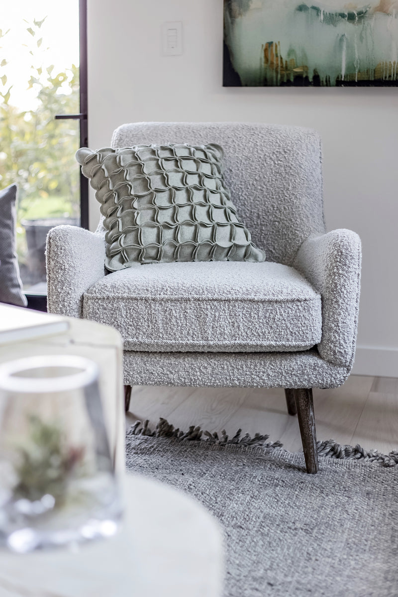 Evan Chair – Grey Boucle