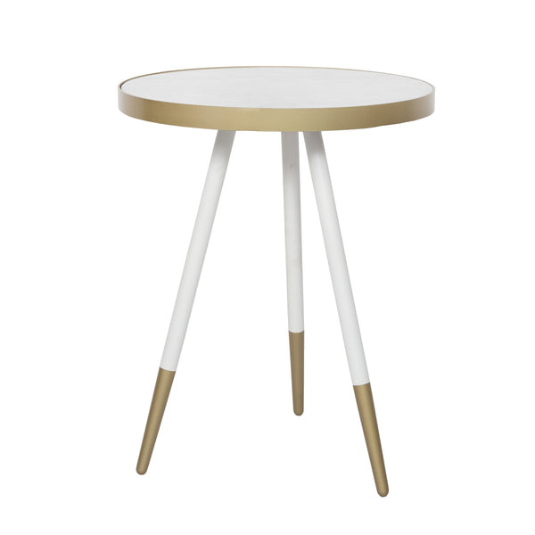 Florence Lamp Table – White Marble