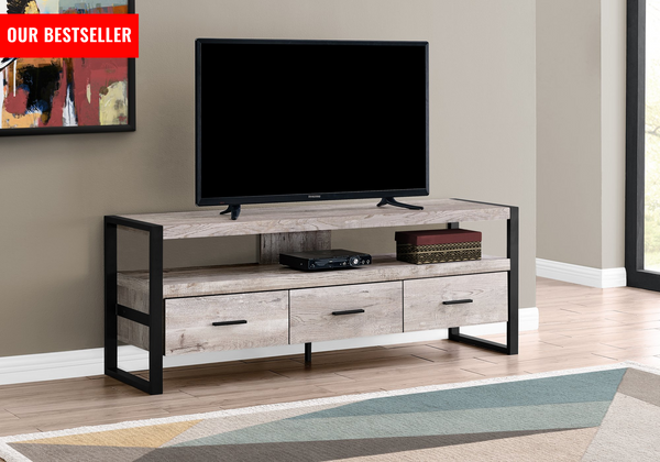 "TV STAND - 60""L 3 drawers (Four color)"