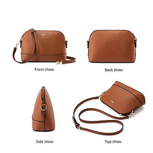 Handbags for Women Tote Bag Fashion Satchel Purse Set Hobo Shoulder Bags Designer Purses 3PCS PU Top Handle Structured Gift Fashion Brown: Shoes