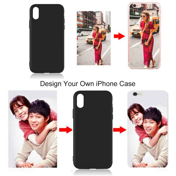Customized DIY Black Soft Phone Case For Apple iPhone