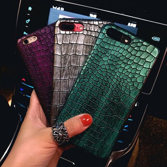 3D Crocodile Leather Iphone Case