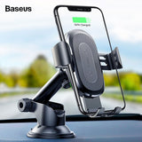 Baseus 10W QI Wireless Car Charger Holder For iPhone & Samsung