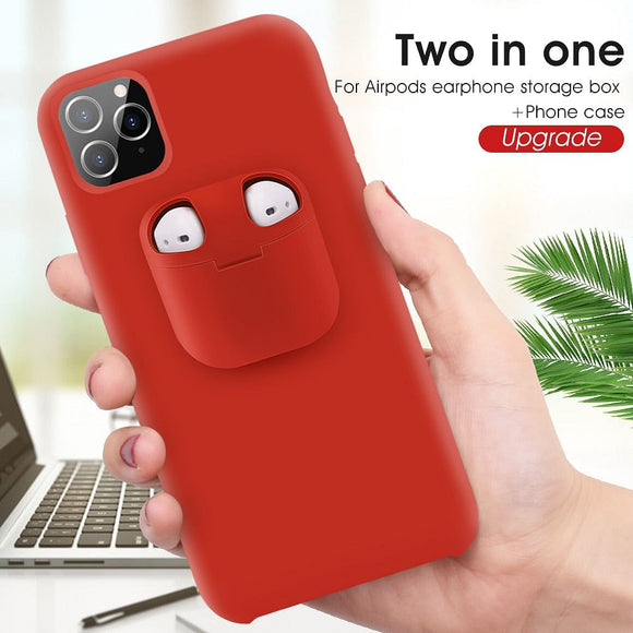 Case With AirPods Case For iPhone AirPods Holder Case Air Pods Cover