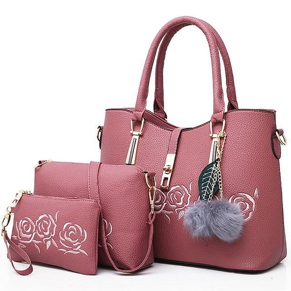 3pcs Leather Bags