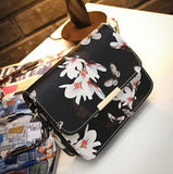 Women Floral leather Shoulder Bag Satchel Handbag Retro Messenger Bag