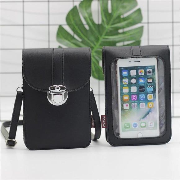Touch Screen Cell Phone Purse Wallet Leather