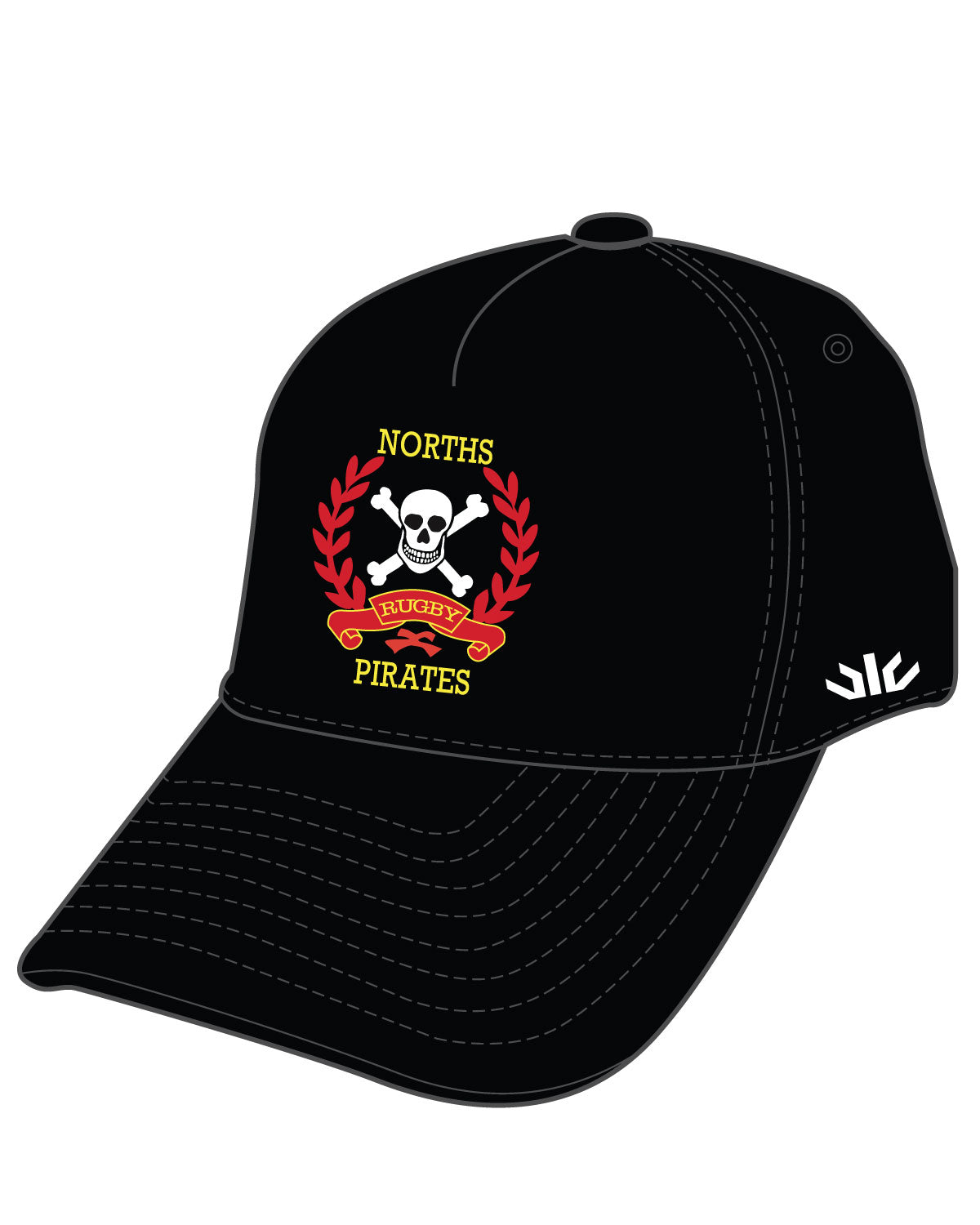 Norths Pirates Sideline Cap Black
