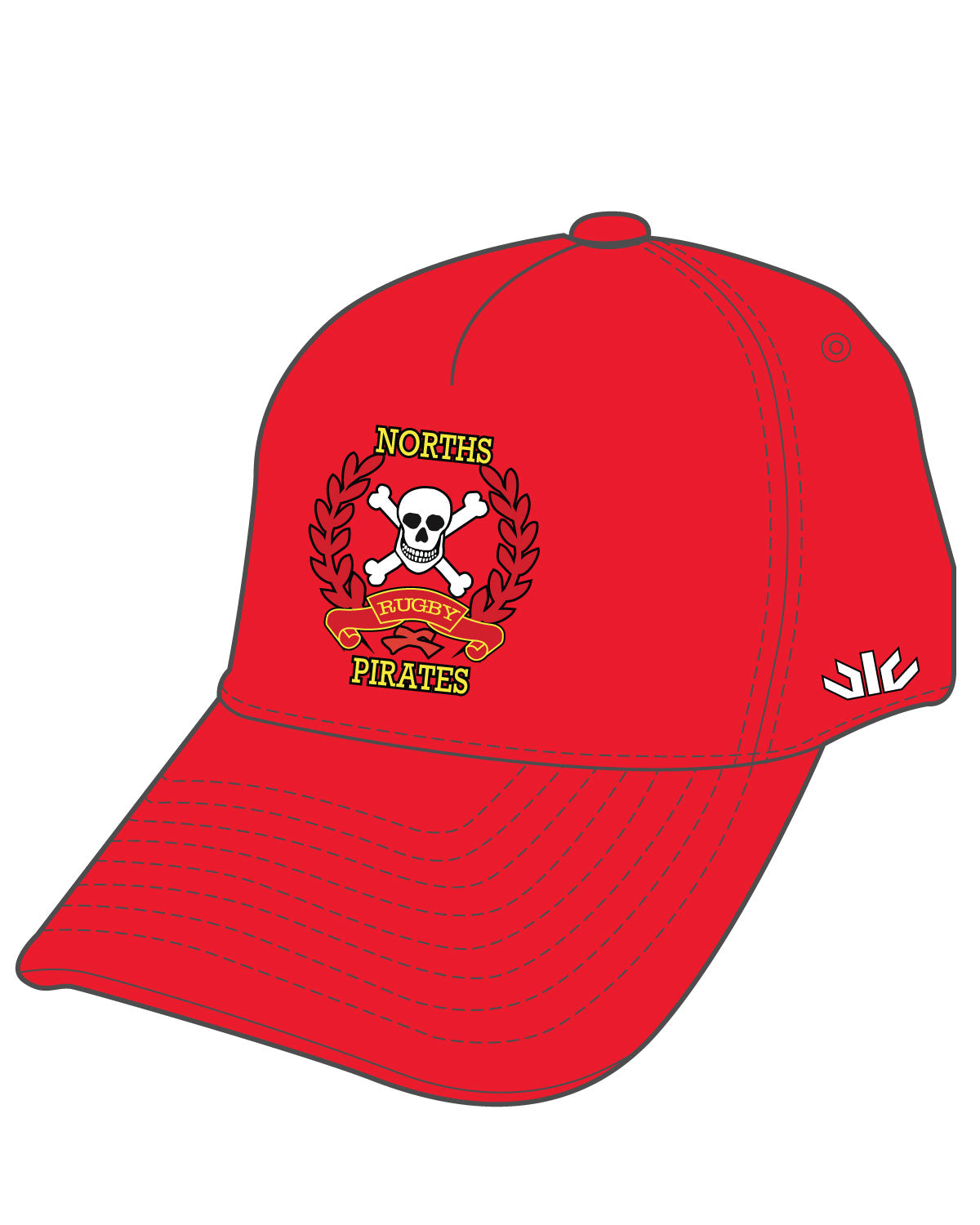 Norths Pirates Sideline Cap Red