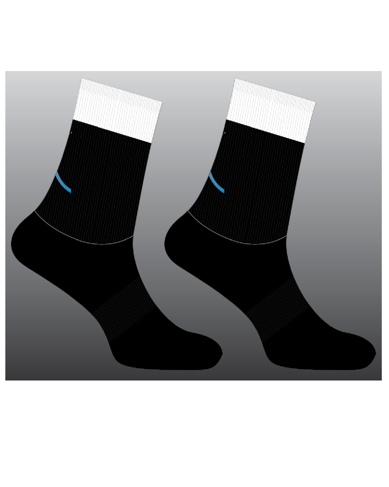 TCF Socks Black and White