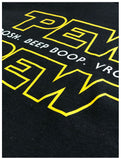 Tall Tee: Pew Pew Wars | Funny Sci-fi Space Star Noises Science Geek Men T-shirt