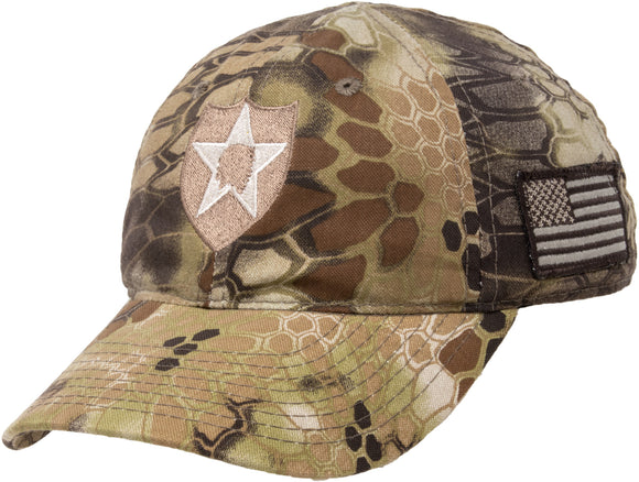 2nd Infantry Division | 2ID Camo Military Hat Cap Tactical Army Veteran Vet Tan