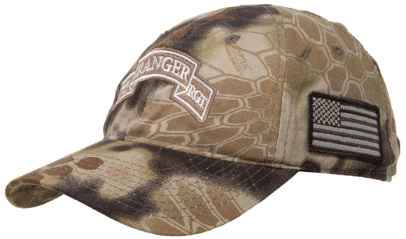 75th Ranger Regiment | Camo Military Hat Cap Tactical Flag Army Veteran Vet Tan