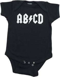 "Ann Arbor T-shirt Co. Unisex Baby ""AB/CD"" Funny Infant Rock and Roll One Piece"