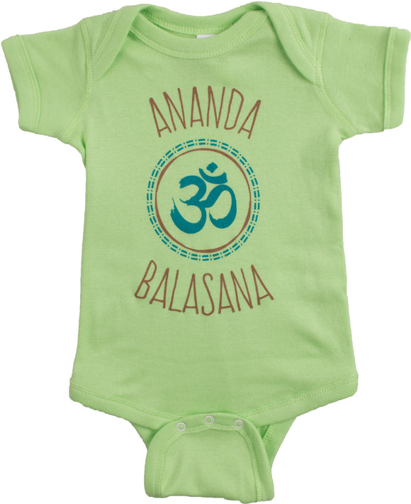 Ananda Balasana (Happy Baby) | Funny Yoga Pose Mom Dad Parent Infant One Piece