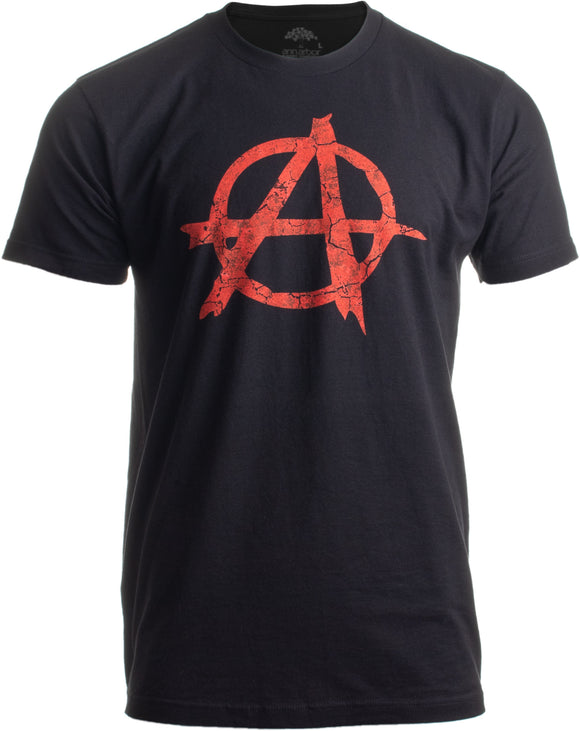 Anarchy | Distressed Anarchist Punk Riot Disorder Men Women Black Revel T-shirt
