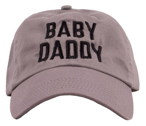 Baby Daddy | Funny New Father Joke Cap, Father's Day Dad Gift Humor Baseball Hat