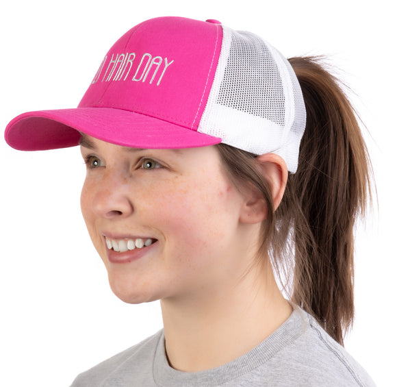 Bad Hair Day | Ponytail Trucker Hat, Boating Lake Beach Hike Pool Pony Tail Cap