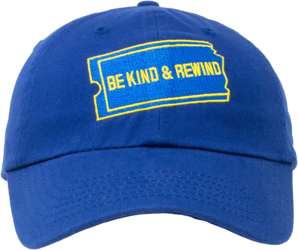 Be Kind Rewind Hat | 1990s 90s Nostalgia Pop Culture Baseball Dad Cap Men Women