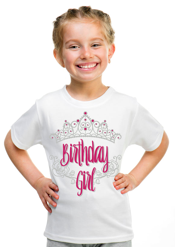 Birthday Girl Princess | Princess Party Tiara B-Day Top Girly Youth T-shirt