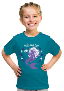Birthday Girl Mermaid | Mermaid B-day Party Cute Girly Top, Girl's Youth T-shirt