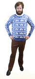 Blue Reindeer Humping Ugly Christmas Sweater w/ Holiday Insertion & Christmas Dongs