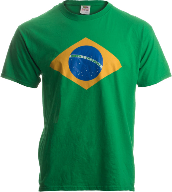 BRAZIL NATIONAL FLAG Unisex T-shirt / Bandeira do Brasil, Brazilian Tee