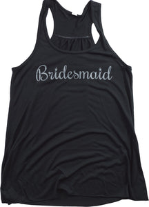 Bridesmaid | Flowy, Silky, Fashionable Racerback Women's Bridal Tank Top