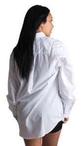 Full Bridal Party Hair & Make-up Oversized Embroidered Button Down Oxford Shirts