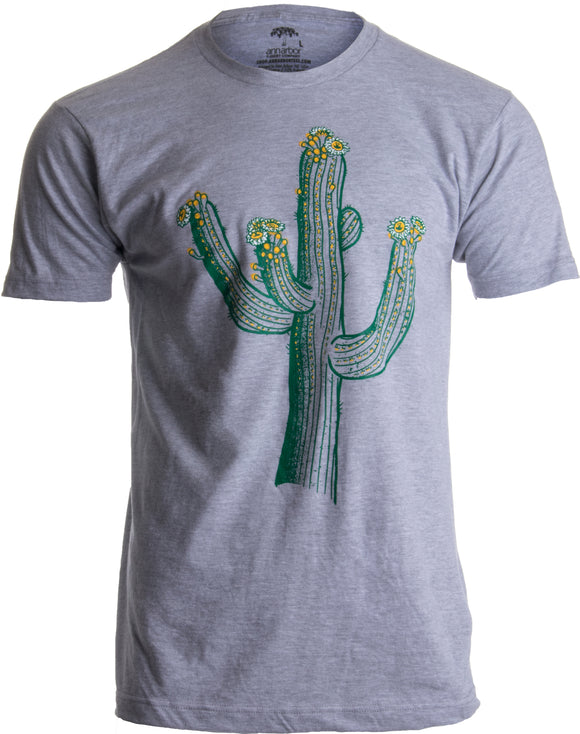 Saguaro Cactus Art | Southwest Line Art, Western Nature Print Men's T-shirt