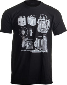 1938 Graflex Speed Graphic Camera Patent Drawing | Photographer Unisex T-shirt