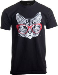 Red Linda Glasses Cat | Funny Belcher Kitty Cute Humor Fun T-shirt for Men Women
