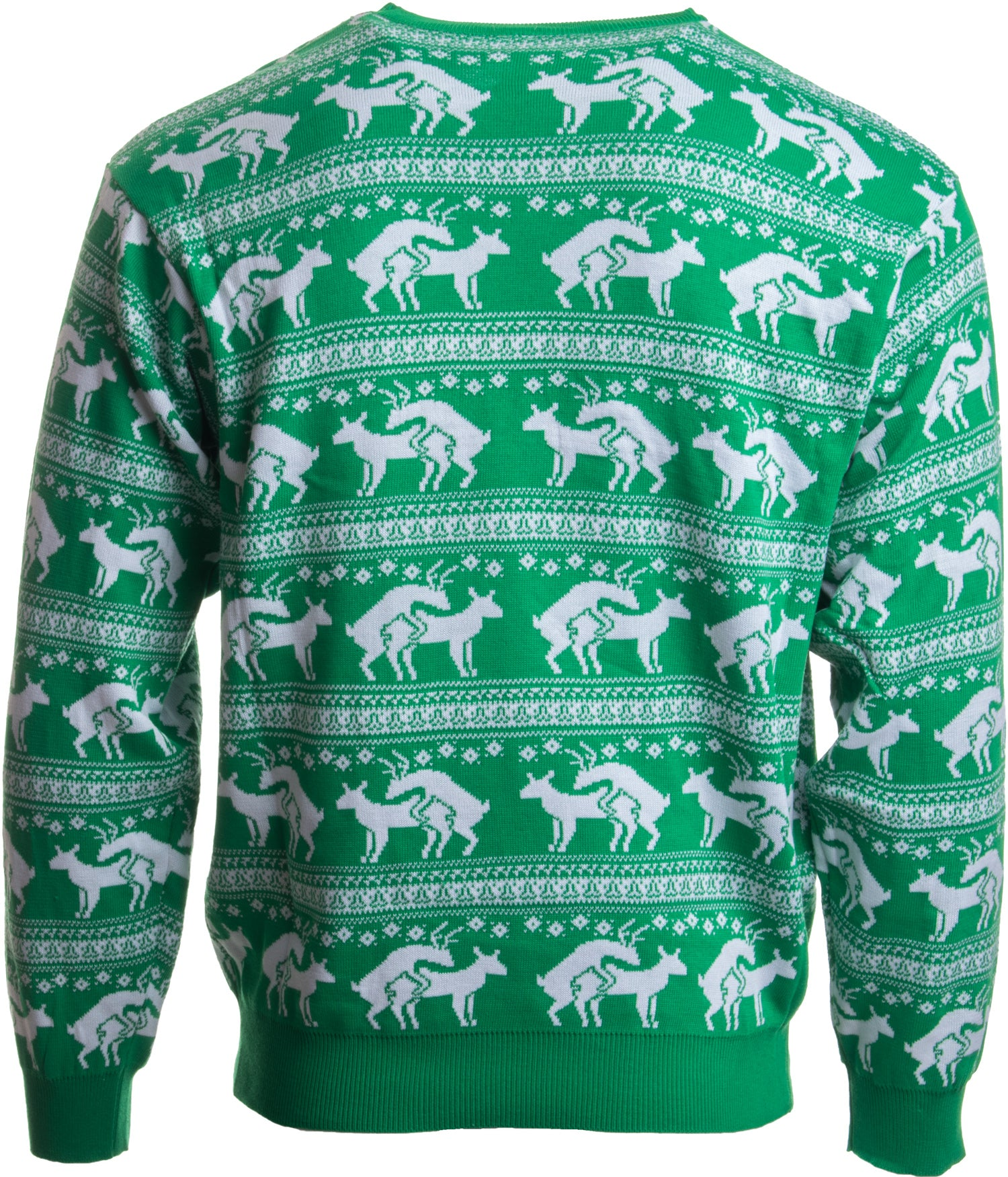 a57ff8da9d0 ... Green Reindeer Humping Ugly Christmas Sweater w  Holiday Insertion    Christmas Dongs ...