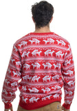 Reindeer Humping Ugly Christmas Sweater w/ Holiday Insertion & Christmas Dongs