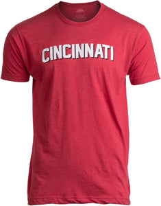 CINCINNATI | Classic Retro Red City Ohio Pride Newport Fan Men Women T-shirt