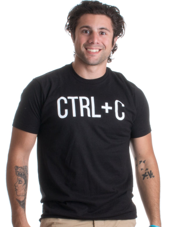 Ctrl + C | Funny Matching Family (Ctrl + V Kids) Nerdy Men's or Women's T-shirt