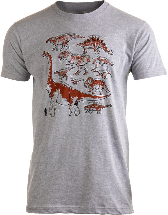 Dinosaur Species | Dino Fan Party Costume T-Rex Raptor Shirt Men Women T-shirt