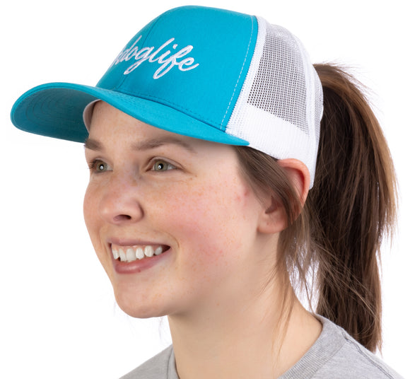 #doglife | Ponytail Trucker Hat Funny Cute Dog Life Owner Mom Pony Tail Hike Cap